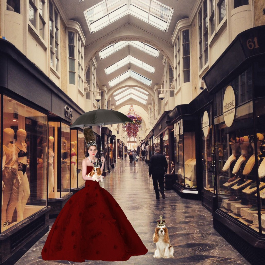 Tyne O'Connell in the Burlington Arcade Mayfair, favourite of the dandizette