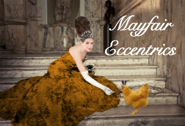 Tyne O'Connell feeding a hen caviar in gold ballgown