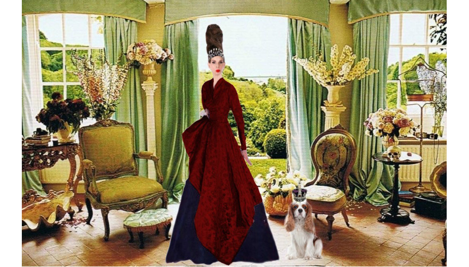 Tyne O'Connell Cecil Beaton's House red dress