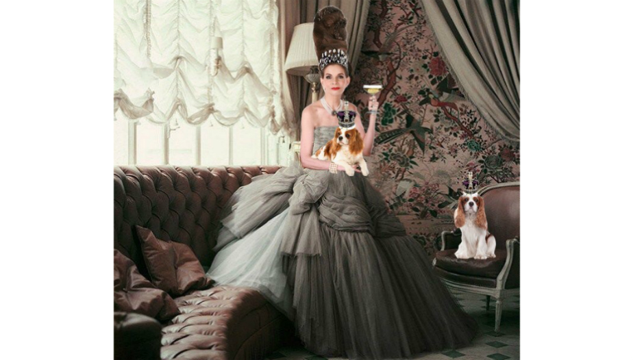 Tyne O'Connell in gorgeous grey ballgown