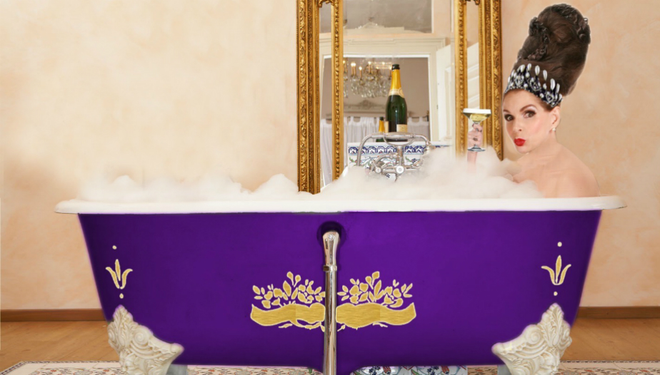 Tyne O'Connell in a Bath in Mayfair
